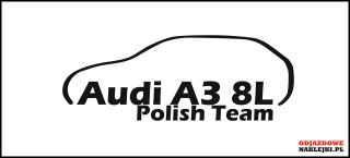 Audi A3 8L Polish Team 15cm