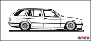 BMW E30 Touring 150cm czarny mat