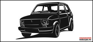 Fiat 126p wallsticker blacm mat