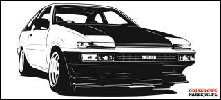 Toyota Trueno AE86 100cm czarny mat