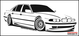 BMW E38 100cm black mat