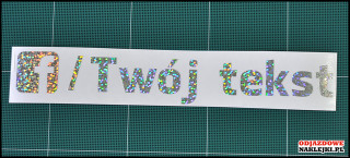 Facebook Your Tekst 20cm silver glitter