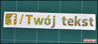 Facebook Your Tekst 20cm gold glitter