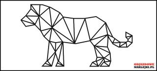 Geometryczne zwierze LEW 85cm czarny mat