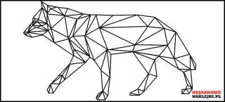 Geometryczne zwierze WILK 85cm czarny mat