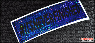 itsneverfinished 18cm blue glitter