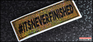 itsneverfinished 16cm gold glitter