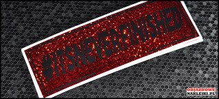 itsneverfinished 18cm red glitter