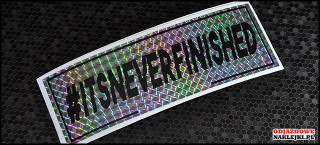 itsneverfinished 18cm silver prisma