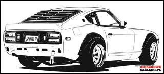 Nissan 240 Z B wallsticekr 100cm black mat