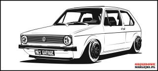 VW Golf Mk1 MKGarage 3D 100cm czarny mat