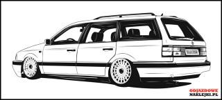 Volkswagen Passat B3 Variant 150cm czarny mat