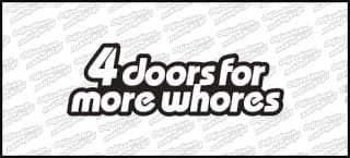 4 doors for more whores 15cm kolor A