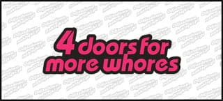 4 doors for more whores 15cm kolor B