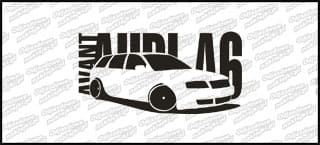 Audi A6 Avant 15cm czarna naprasowanka