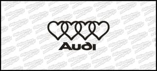 Audi logo serca 15cm