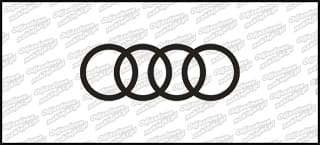 Audi logo 15cm