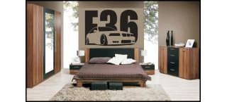 BMW E36 na ścianę 100cm czarny mat
