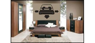 Nisko szeroko VW Golf mk2 na ścianę 100cm Czarny Mat