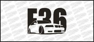 BMW E36 15cm Biała naprasowanka