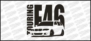 BMW E46 Touring M-Pak 15cm biała naprasowanka