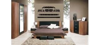 BMW E39 Front 100cm czarny mat