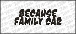 Because Family Car 15cm