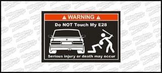 Do not touch my BMW E28 biało czerwona 15cm