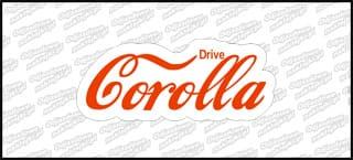 Drive Corolla 15cm czerwona