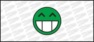 Emotka 5cm Zielona
