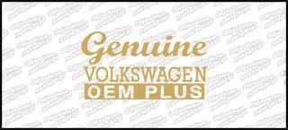 Genuine Volkswagen 15cm złota