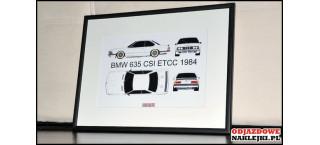 Grafika BMW 635Csi ETCC 1984 Format A4