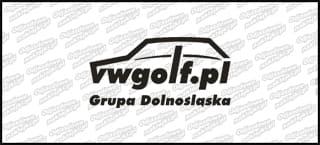 VWGolf.pl Mk1 Logo Grupa Dolnośląska 15cm Biała