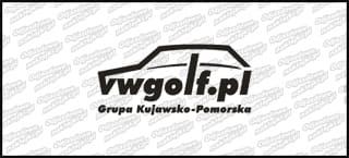 VWGolf.pl Mk1 Logo Grupa Kujawsko-Pomorska 15cm Biała