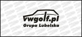 VWGolf.pl Mk1 Logo Grupa Lubelska 15cm Biała