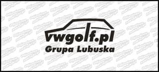 VWGolf.pl Mk1 Logo Grupa Lubuska 15cm Biała