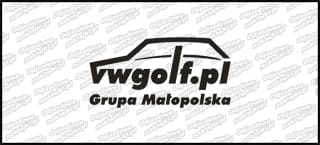 VWGolf.pl Mk1 Logo Grupa Małopolska 15cm Biała