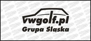 VWGolf.pl Mk1 Logo Grupa Śląska 15cm biała