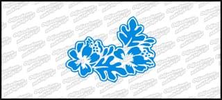 Hibiskus D 5cm niebieska