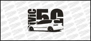 Honda Civic 5gen 15cm czarna naprasowanka