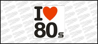 I love 80s Color 5cm