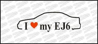 I love my EJ6 18cm biała