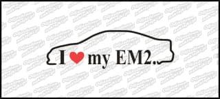 I love my EM2 18cm biała