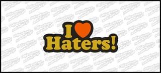 I love Haters D 15cm czarno złota