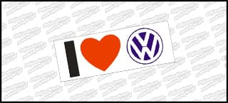 I Love VW 15cm Color