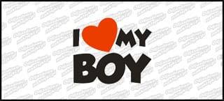 I love my Boy 10cm biała