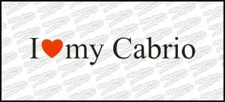 I love my Cabrio 20cm biała