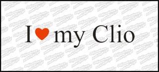 I love my Clio 20cm biała