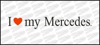 I love my Mercedes 20cm biała