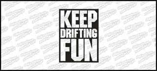 Keep Drifting Fun Czarna 10cm